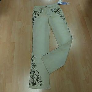 Diane Gilman Embellished Jean- Size 6T
